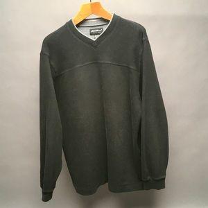 Eddie Bauer Men's Sweater Black/Grey Large